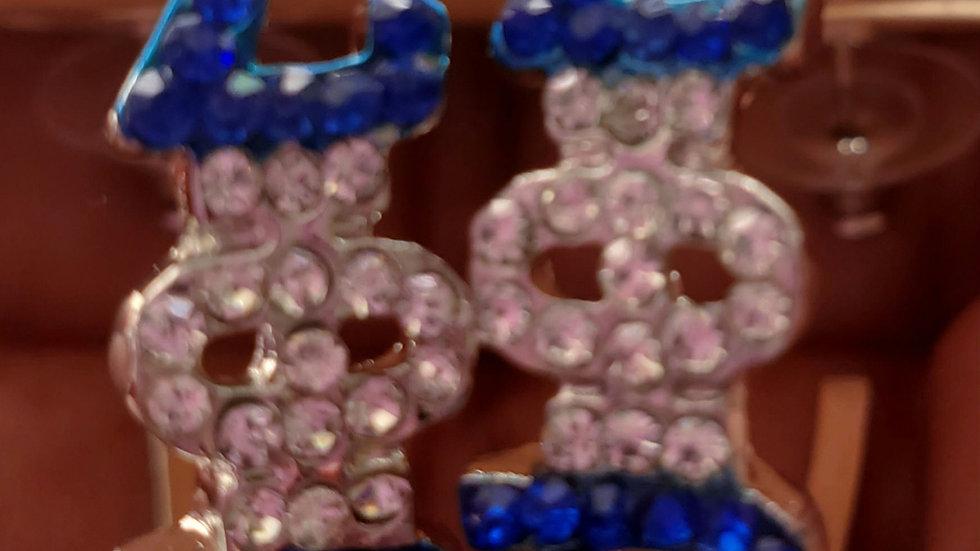 Zeta Hoop Bling Earrings