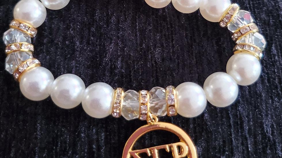 Sgrho letter pearl Bracelet