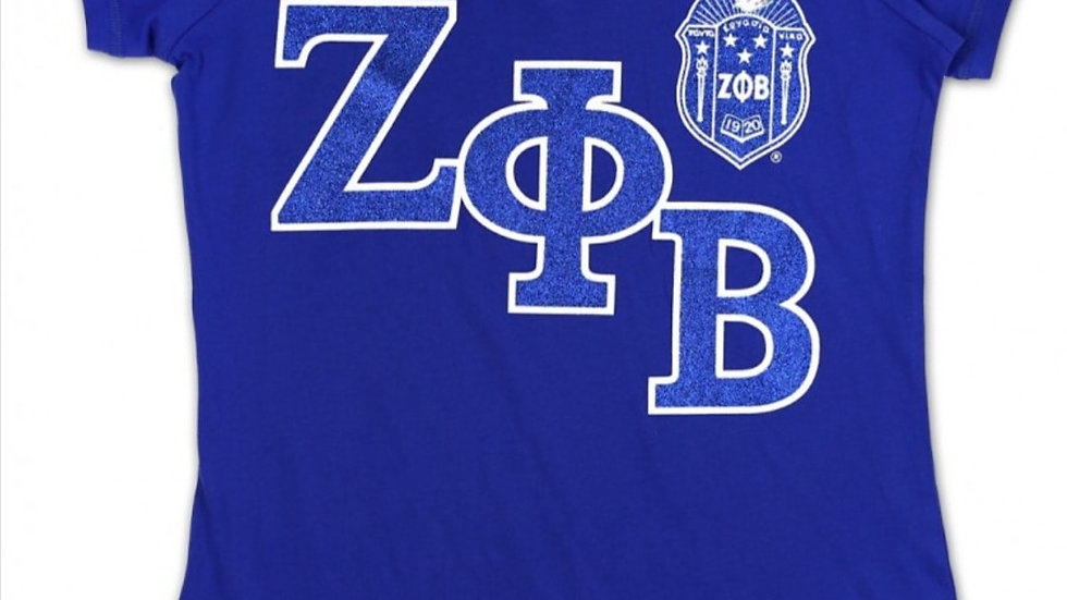 Zeta Royal Blue Slanted Vneck Tshirt