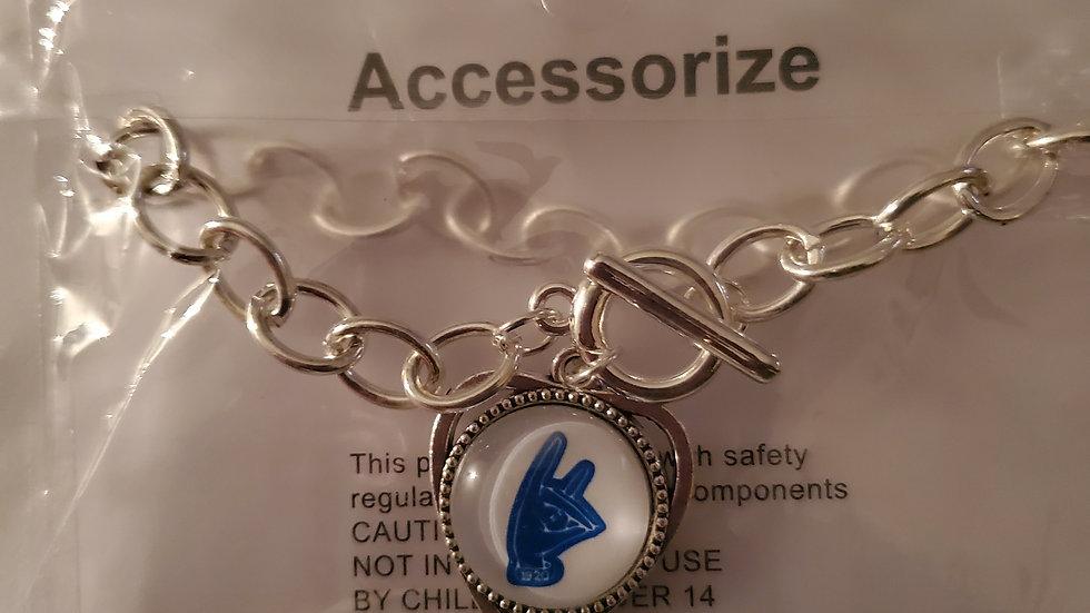 Zeta Heart Hand Chain Bracelet