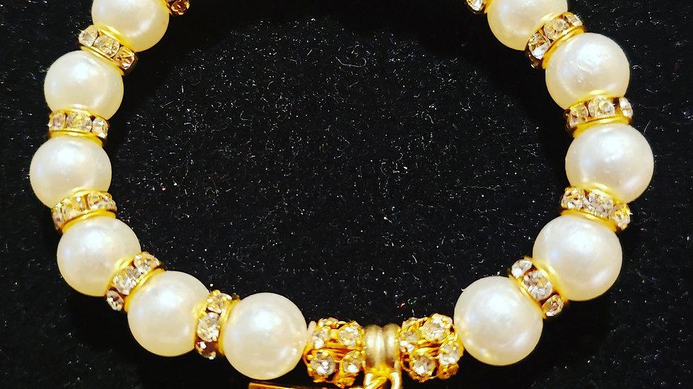 TLOD Gold Pearl Bracelet