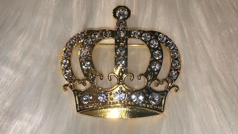 Gold crown pin