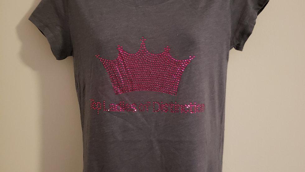 TOP ladies Bling Pink Crown Tshirt