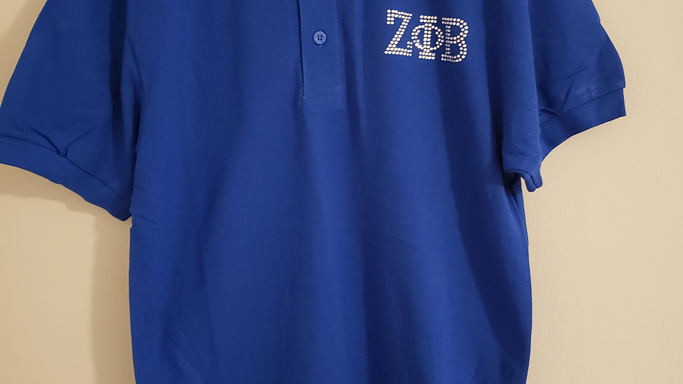 Zeta Polo Bling Shirt
