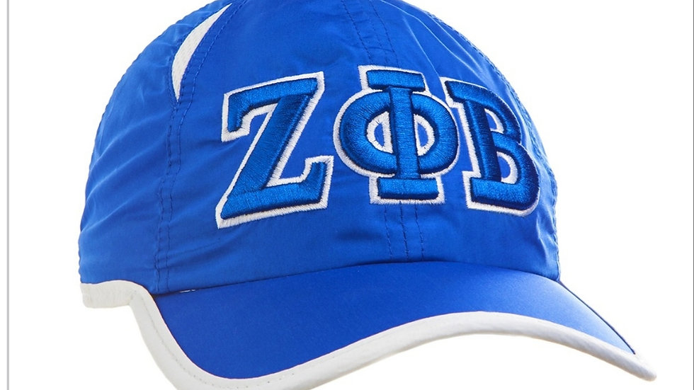 Zeta blue n white hat