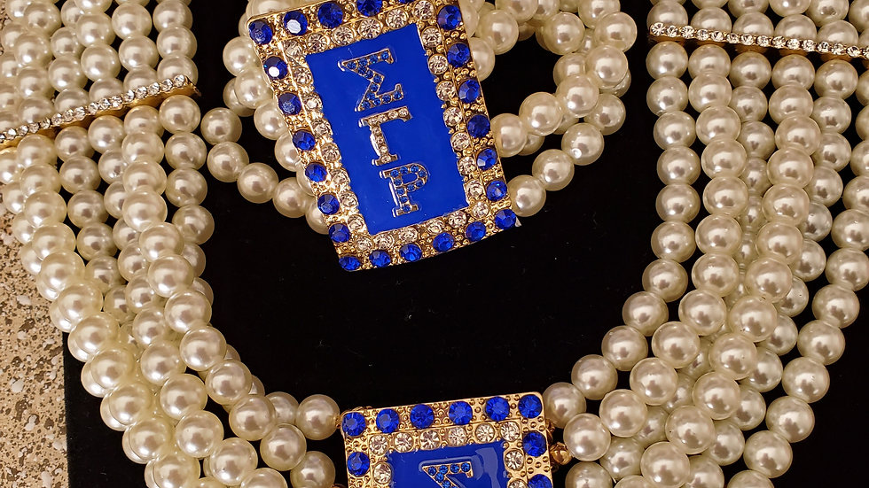 Sgrho 2 piece pearl necklace set