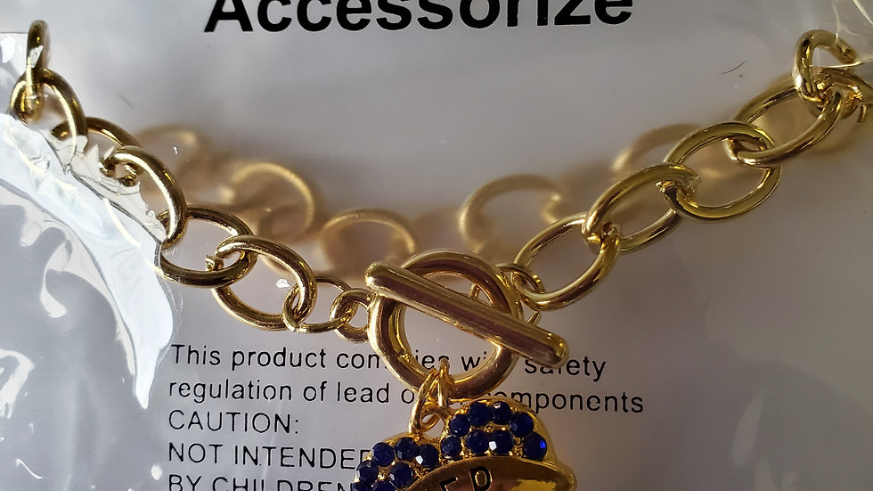 Ladies Heart Chain Bracelet