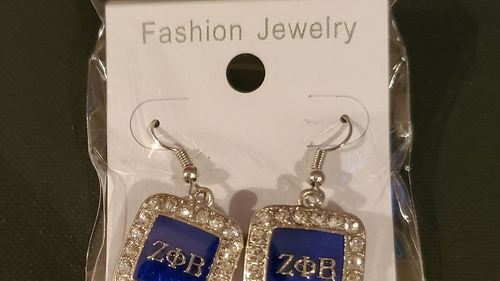 Zeta Square Earrings