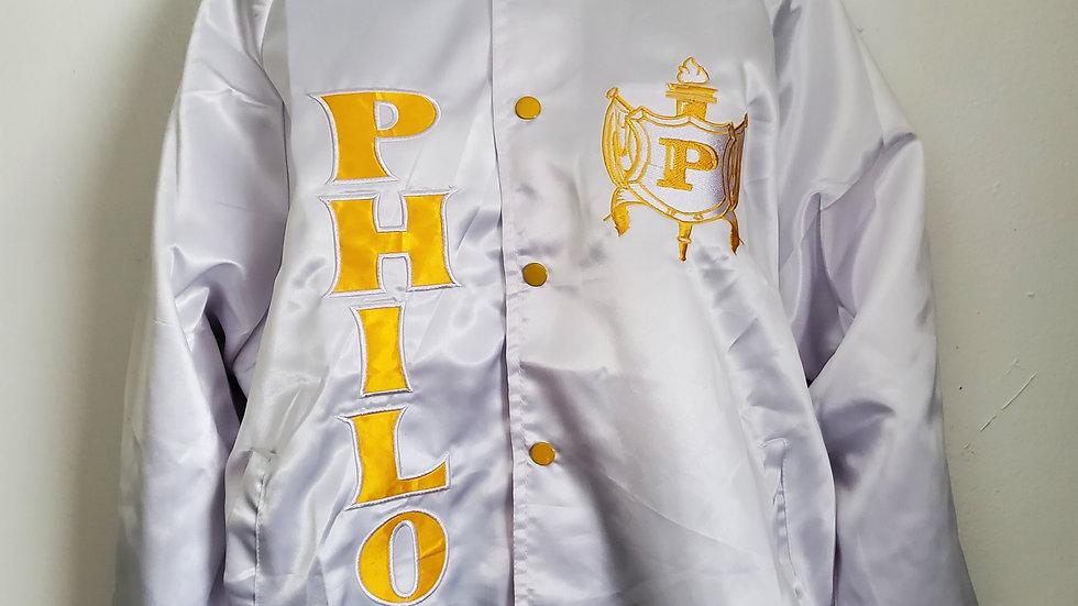 Philo White Satin Jacket