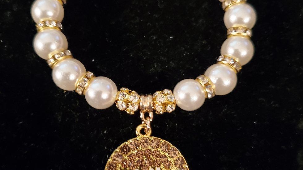Philo Bling Letter Pearl Bracelet