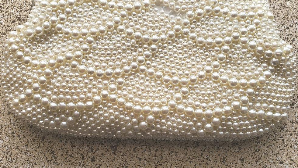 Creme Pearl Clutch