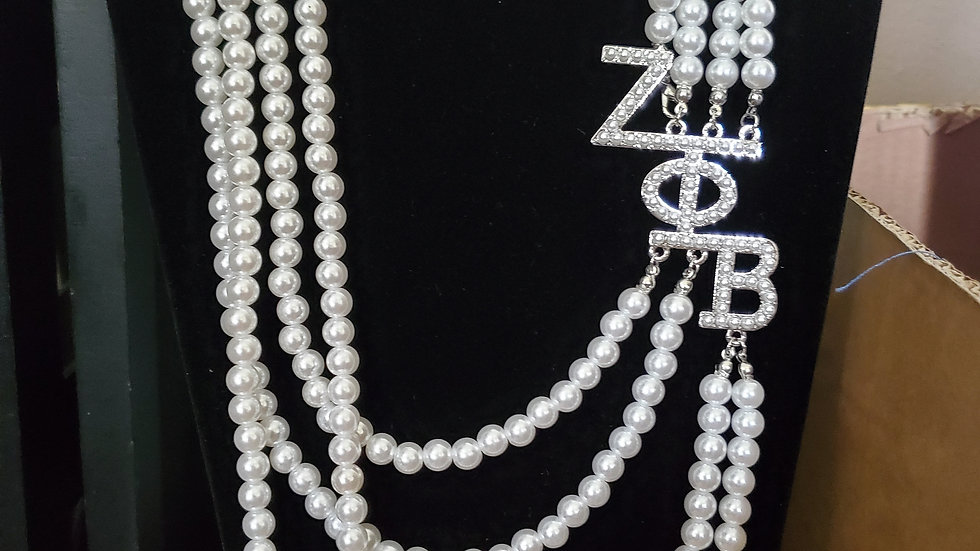 Zeta White Pearl Necklace