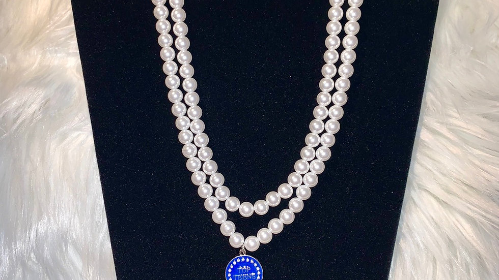 Top Teens two strand white pearl necklace