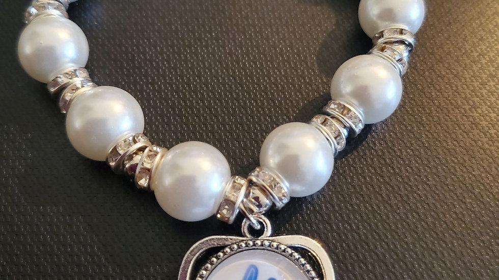Zeta Heart Hand Bracelet