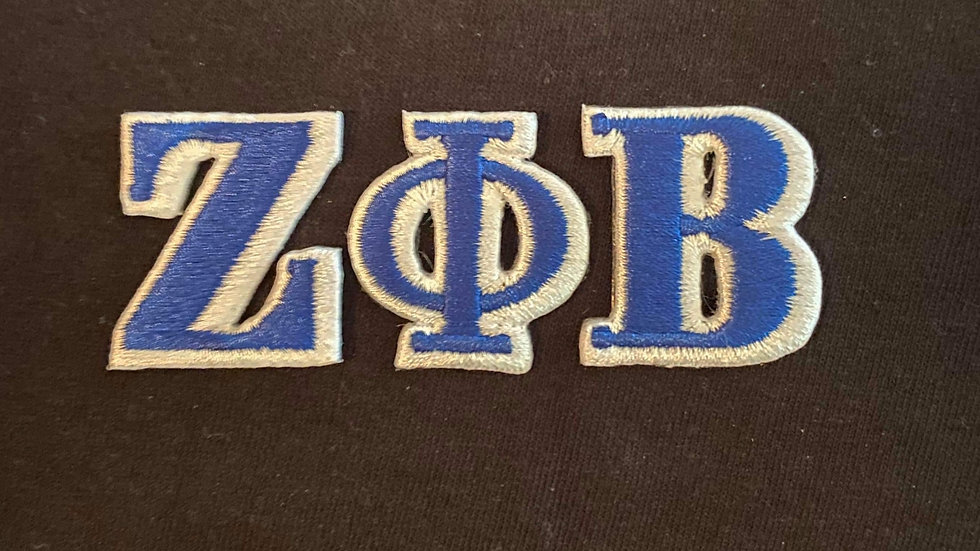 Zeta Small Individuals letter patch