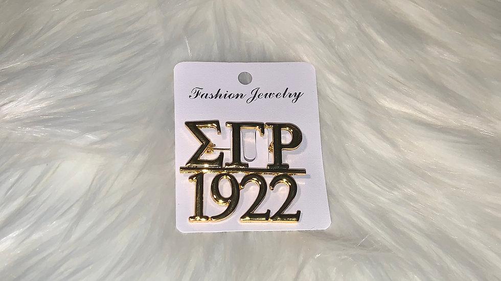 Sgrho 1922 pin