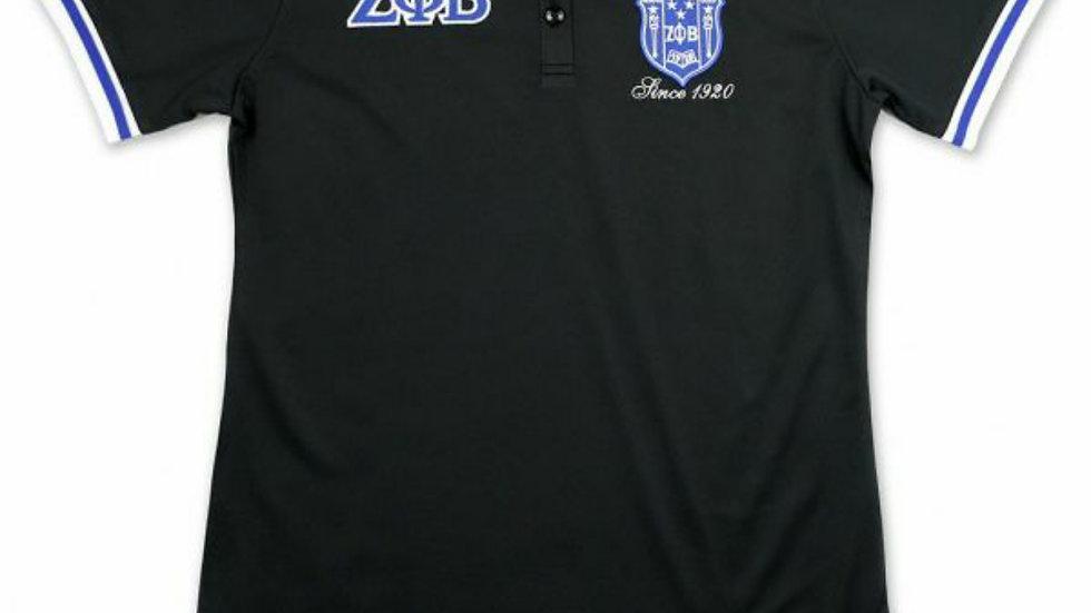 Zeta Black Polo Shirt