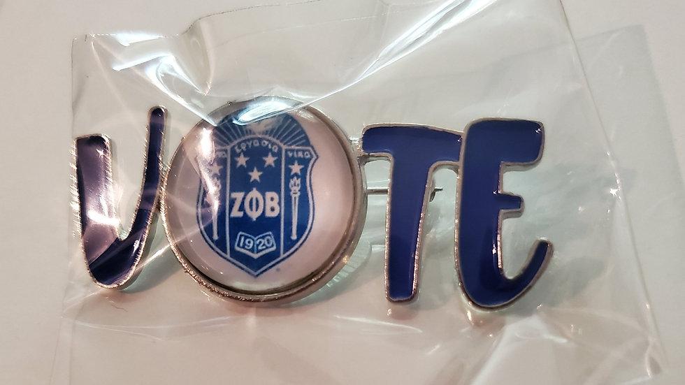 Zeta Vote pin