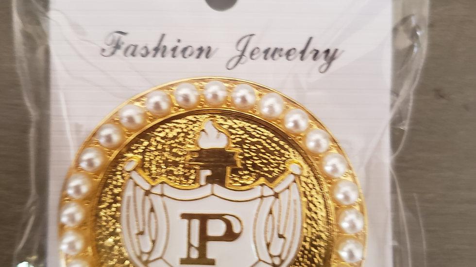 Philo pearl Shield pin