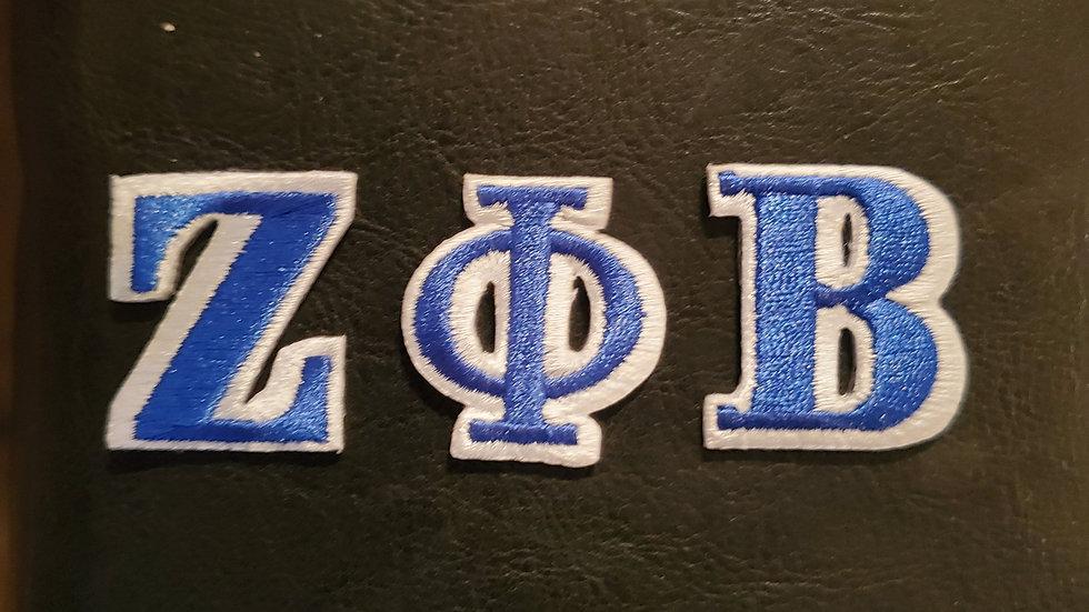Zeta individual letter patch