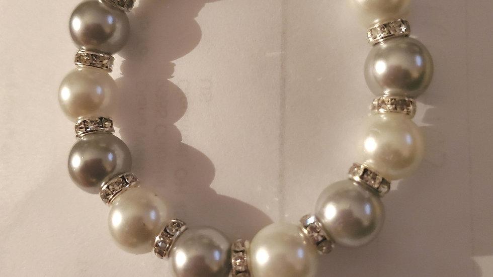 Zeta Pearl Heart Bracelet