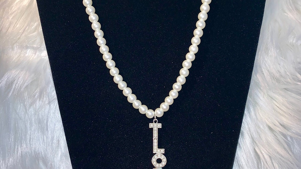 TLOD one strand white pearl necklace