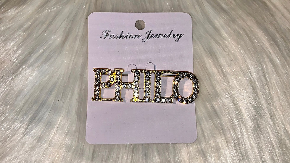 Philo bling word pin