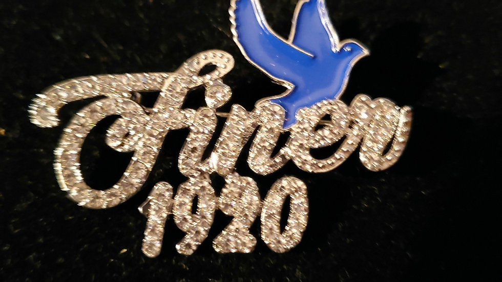 Zeta Finer 1920 Bling Pin