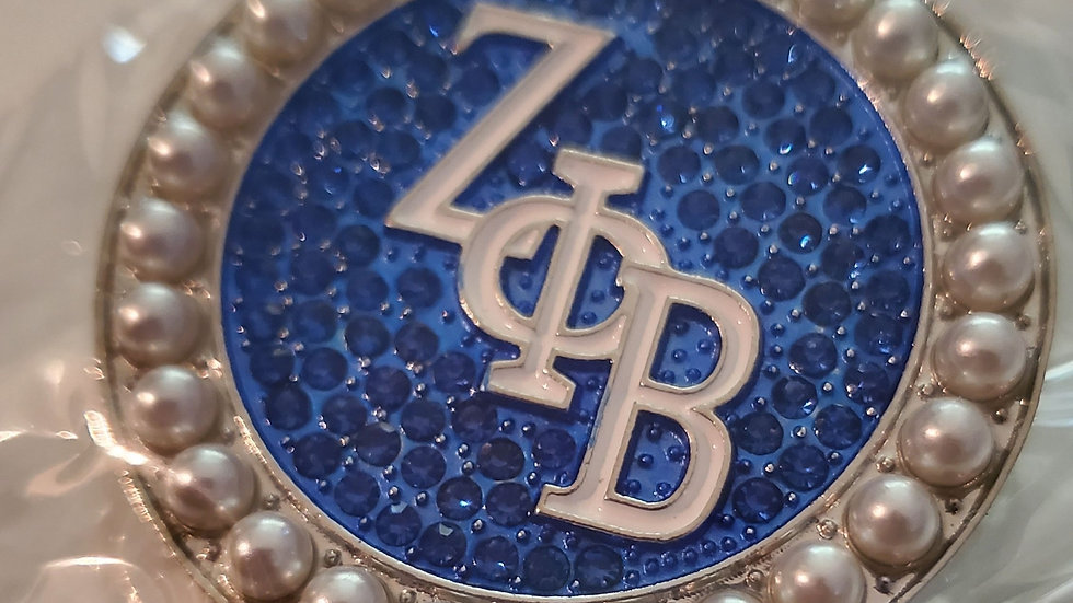 Zeta Big Bling Pin with Pearl's