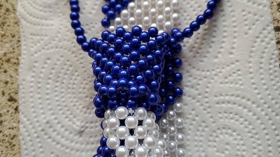 Zeta Blue n white Bowtie