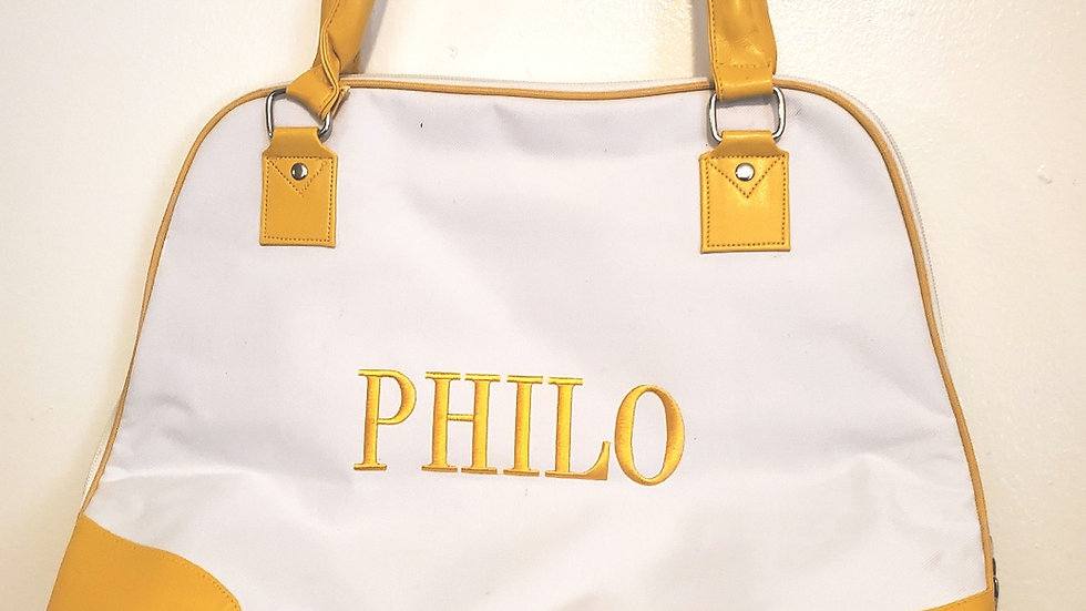 Philo White n Gold Purse