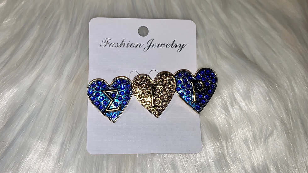 Sgrho 3 hearts bling pin