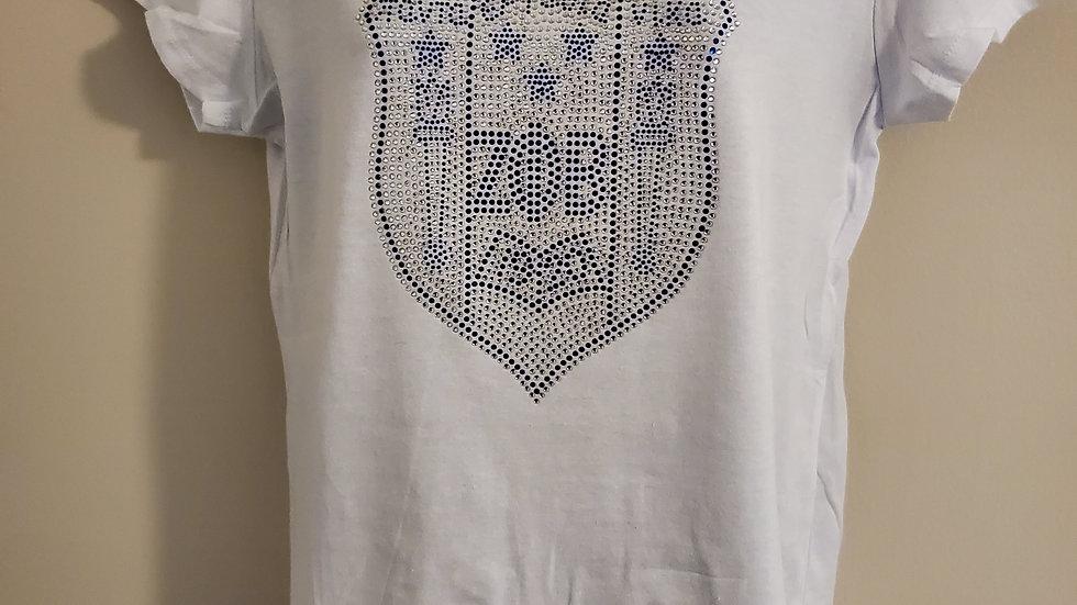 Zeta White Shield Tshirt