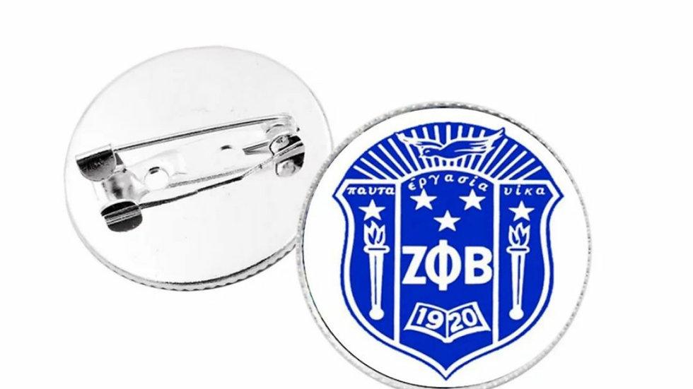Zeta Shield Lapel pin