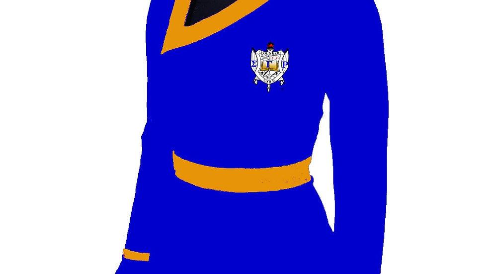 Sgrho Blue Peplum Shirt