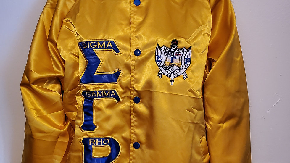 Sgrho New Gold Satin Jacket