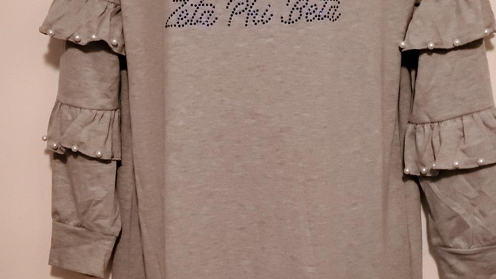 Zeta Grey Pearl Dress