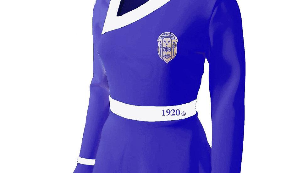 Zeta Blue Peplum Shirt
