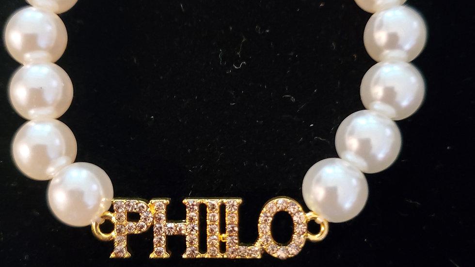 Philo Pearl Bling Bracelet