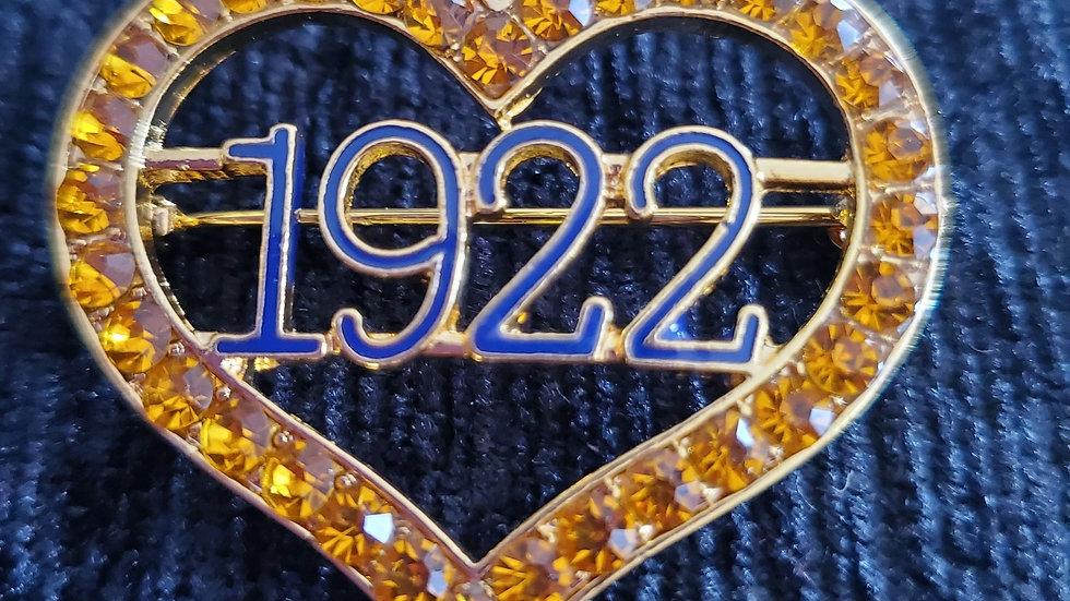 Sgrho 1922 Heart Pin