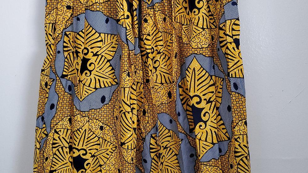 Blue n Gold African Skirt