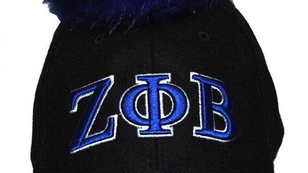 Black Zeta Puff Ball Hat