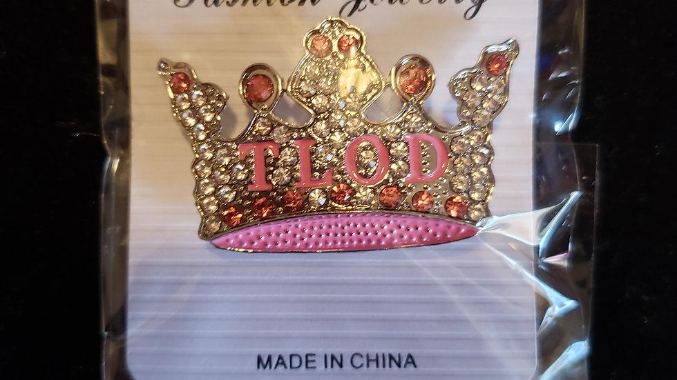 TLOD bling crown pin