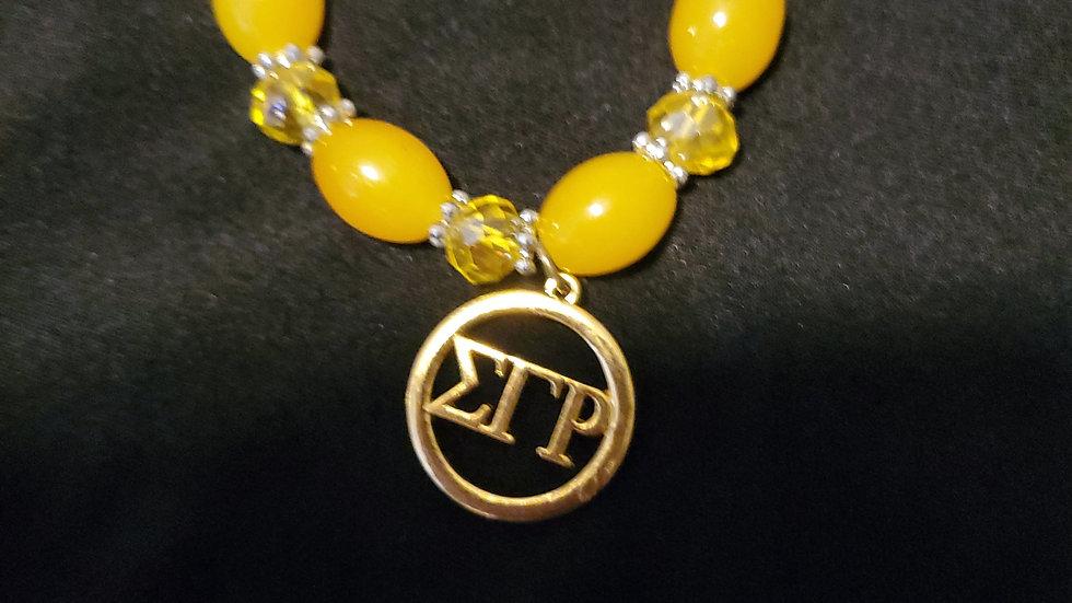 Sgrho Yellow Bead Bracelet