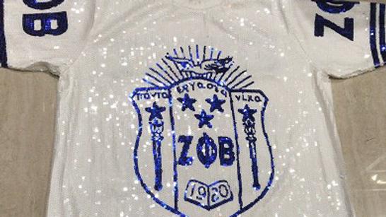 Zeta Sequin Shield Shirt