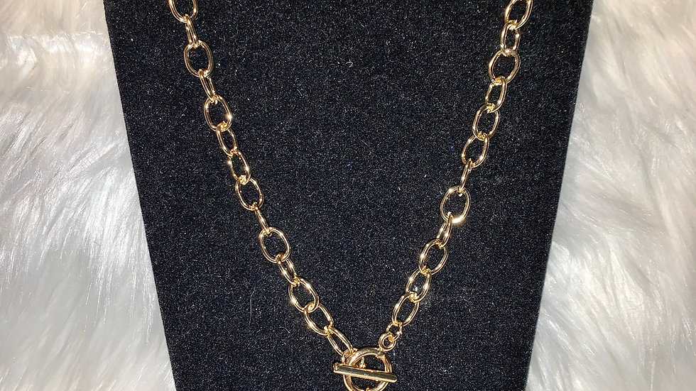 Sgrho stacked chain necklace