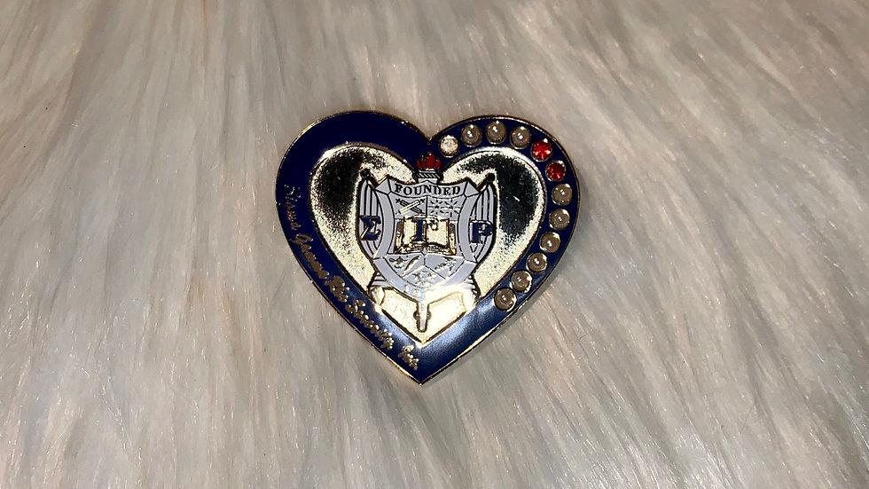 Sgrho shield heart pin