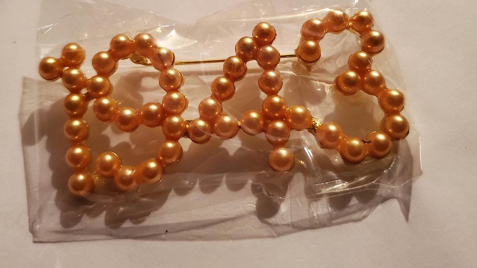 Philo 1943 Gold Pearl pin