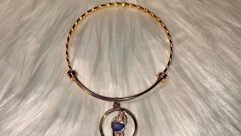 Rhoers gold twisty jack and Jill bracelet