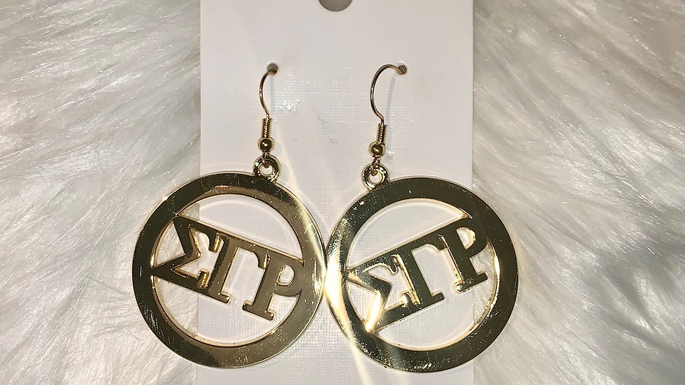 Sgrho gold round earrings